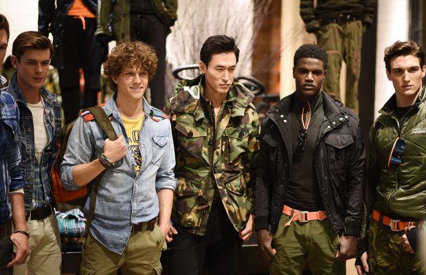 Models at Ralph Lauren's New York Fashion Week: Men's presentation in July. Photo: Andrew H. Walker/Getty Images