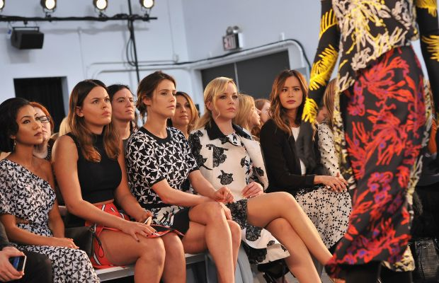 The front row of Tanya Taylor's Fall 2015 show. Photo: Fernando Leon/Getty Images.