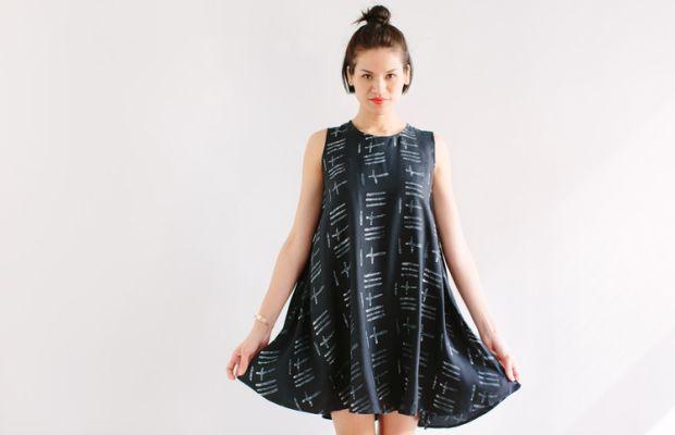A batik dress on Of a Kind. Photo: Of a Kind