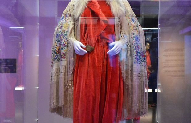 """A Paul Poiret look at the """"China: Through the Looking Glass"""" exhibit, currently on view at the Met. Photo: Slaven Vlasic/Getty Images"""