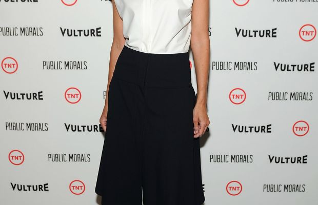 Christy Turlington in Zero + Maria Cornejo on Wednesday. Photo: Brad Barket/Getty Images