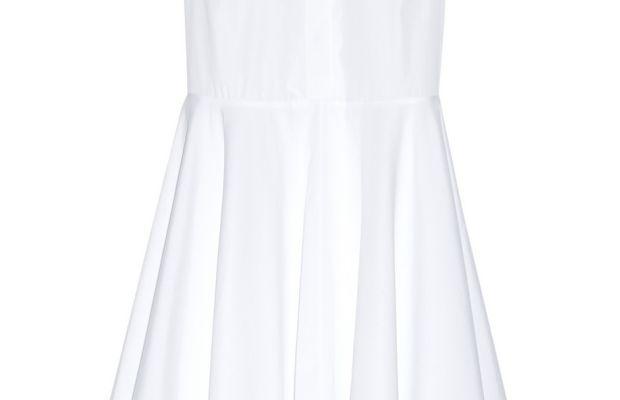 Adam Lippes asymmetric cotton-poplin midi dress, $356, available at The Outnet.