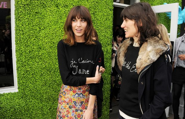 Alexa Chung and Bella Freud in 2012. Photo: Dave M. Benett/Getty Images