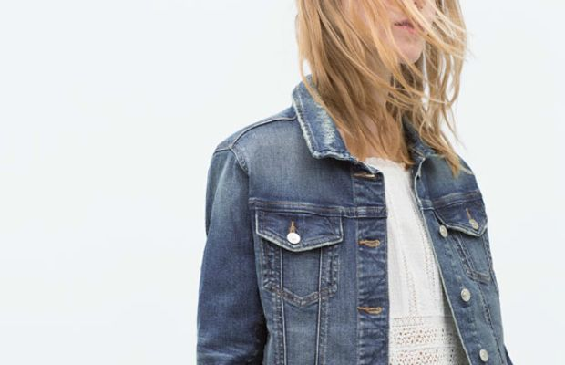 Denim jacket, on sale now at Zara.