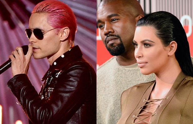Jared Leto and Kim Kardashian (Oh, and Kanye too). Photos: Kevin Winter/Frazer Harrison Getty Images