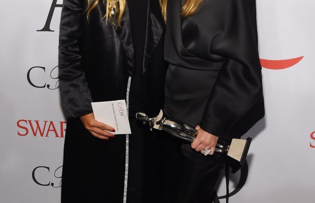 Mary-Kate and Ashley Olsen at the CFDA Awards in June, where they nabbed the night's top honor — Womenswear Designer of the Year — for the second time. Photo: Larry Busacca/Getty Images