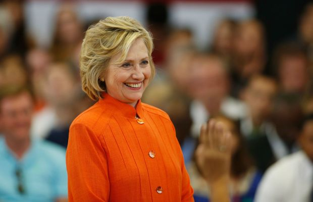 Hillary Clinton at a town hall in North Las Vegas, Nevada on Aug. 18. Photo: Isaac Brekken/Getty Images
