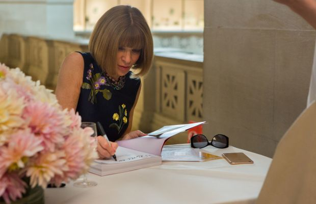 Anna Wintour at the book signing Wednesday. Photo: © The Metropolitan Museum of Art