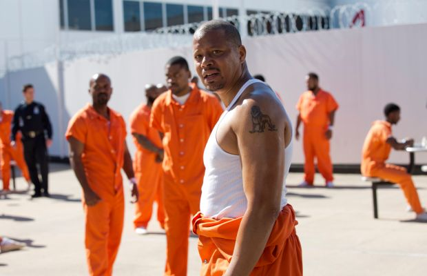 Prison jumpsuit styling pro-tip, courtesy of Lucious Lyon. Photo: Chuck Hodes/FOX