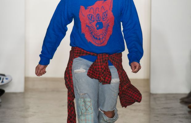 Jeremy Scott at his fall 2015 show. Photo: Imaxtree