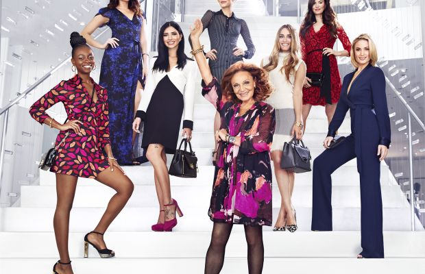 Diane von Furstenberg and the new round of contestants, er, job applicants. Photo: House of DVF