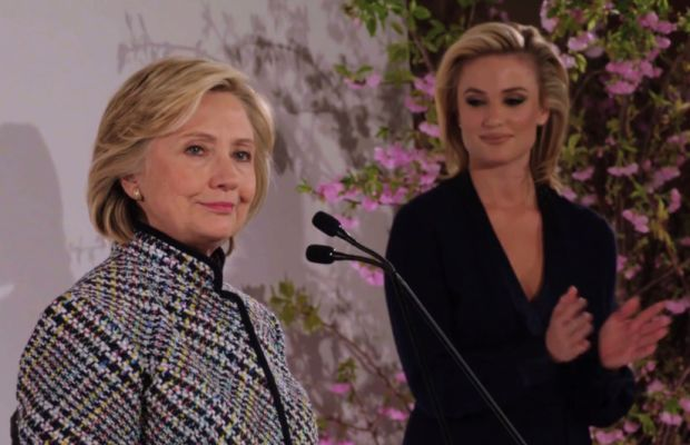 """Hmm... maybe I should try a pantsuit... "" Screengrab: House of DVF"