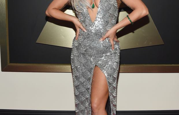 Lady Gaga in one of Brandon Maxwell's designs at the 2015 Grammy Awards. Photo: Larry Busacca/Getty Images
