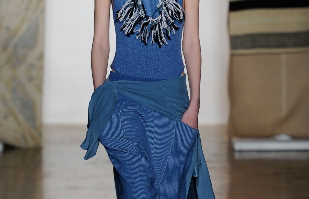 A look from Baja East's fall 2015 collection. Photo: Arun Nevader/Getty Images