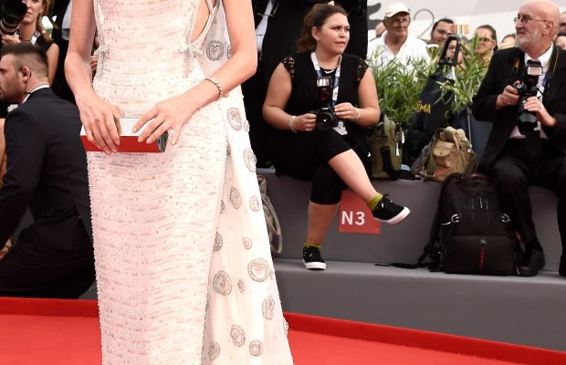 """Diane Kruger in Prada at the opening ceremony and premiere of """"Everest"""" during the 72nd Venice Film Festival. Photo: Ian Gavan/Getty Images"""