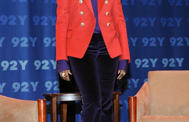 "Iman at Fern Mallis's 92Y ""Fashion Icons"" talk on Tuesday. Photo: Daniel Zuchnik/WireImage"