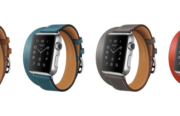 The Hermès Apple Watch bands. Photo: Apple