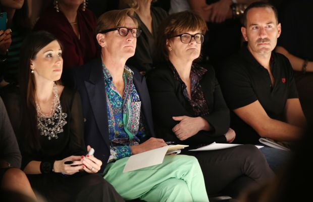 Cathy Horyn at Bibhu Mohapatra's New York Fashion Week show in 2013. Photo: Chelsea Lauren/Getty Images
