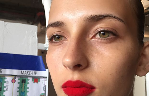 Red velvet, minus the crumbs. Photo: Cheryl Wischhover's iPhone/Fashionista