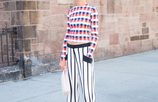 Natalie Joos in a Tanya Taylor top and Giulietta pants. Photo: KDV/Fashionista