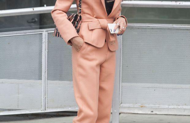 Soo Joo Park in Jason Wu suit. Photo: Emily Malan/Fashionista