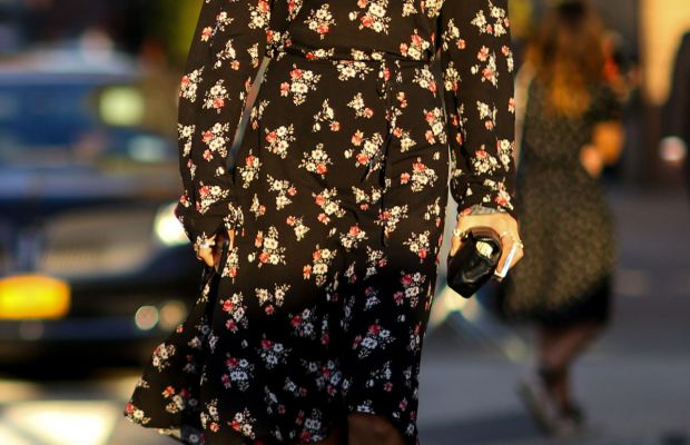 Grazia's Gilda Ambrosio in Vetements dress and Alexander Wang shoes. Photo: Imaxtree