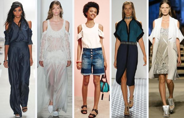 From left to right: Nicole Miller, Wes Gordon, See by Chloe, Ohne Titel and Givenchy. Photos: Imaxtree