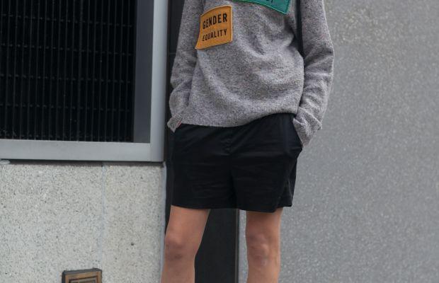 Model Hanne Gaby Odiele in Alexander Wang boots.Photo: Emily Malan/Fashionista