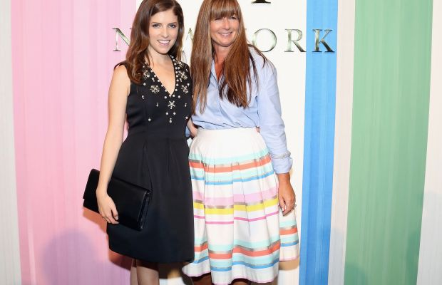 Anna Kendrick with Kate Spade Chief Creative Officer Deborah Lloyd at the spring 2016 presentation. Photo: Monica Schipper/Getty Images