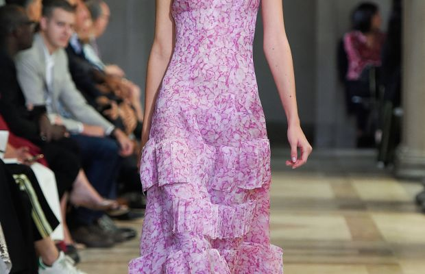 A look from Carolina Herrera's spring 2016 collection. Photo: Imaxtree