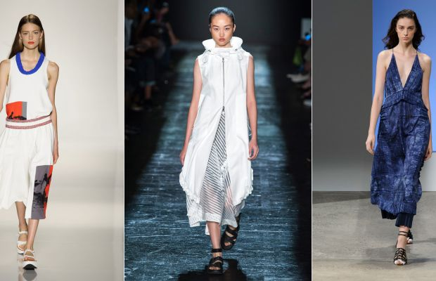 Looks from Victoria Beckham, Public School and Thakoon. Photos: Imaxtree