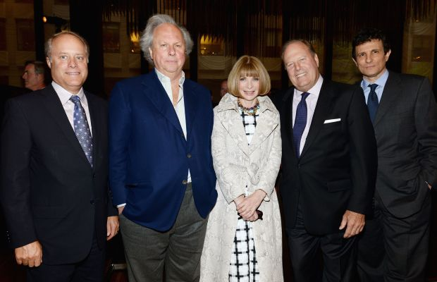 Bob Sauerberg, Vanity Fair's Graydon Carter, Vogue's Anna Wintour, Chuck Townsend and The New Yorker's David Remnick.Photo: Dimitrios Kambouris/Getty Images for Conde Nast