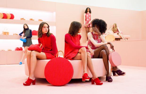 Models lounge in Mansur Gavriel bags and shoes. Photo: Mansur Gavriel
