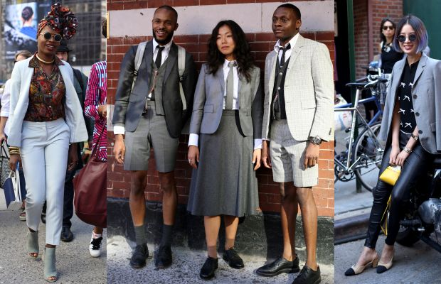 Seen on the street on day five of New York Fashion Week. Photos: Angela Datre/Fashionista