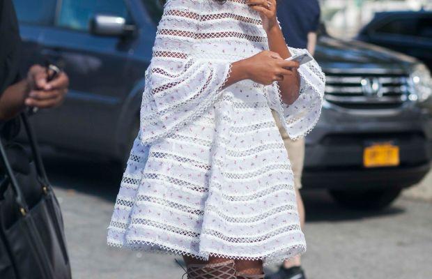 Solange in Zimmermann. Photo: Emily Malan/Fashionista