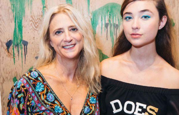 Nanette Lepore and daughter Violet at her spring 2016 presentation party. Photo: Nanette Lepore
