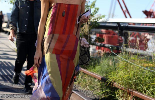 Teen Vogue's Marina Larroude in Chanel slingbacks. Photo: Angela Datre/Fashionista