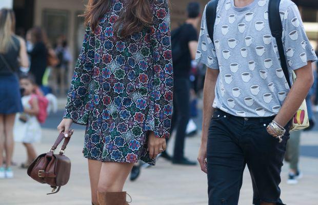 Blogger Eleanora Carisi and Alessandro Enriquez. Photo: Emily Malan/Fashionista