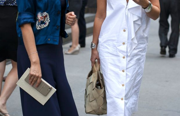 Nasiba Adilova and Miroslava Duma. Photo: Emily Malan/Fashionista