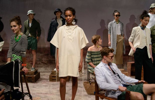 The scene at J.Crew's spring 2016 presentation on Wednesday. Photo: Imaxtree