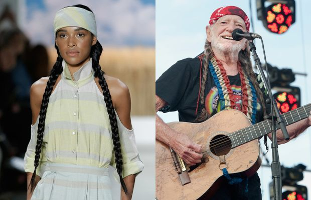 A look from Mara Hoffman and Willie Nelson. Photos: Imaxtree/Erika Goldring for Getty Images
