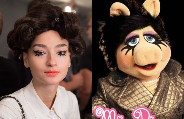 A look from Jeremy Scott and Miss Piggy in her MAC campaign. Photos: Imaxtree/MAC
