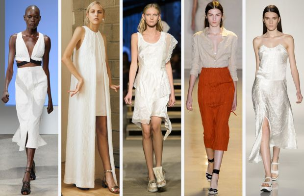 From left to right: Thakoon, Rosetta Getty, Givenchy, Altuzarra and Victoria Beckham