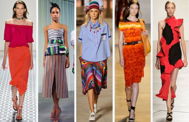From left to right: Ohne Titel, Tanya Taylor, Tommy Hilfiger, Altuzarra, Proenza Schouler