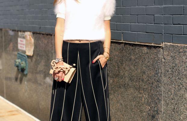 Blogger Chiara Ferragni in Calvin Klein. Photo: Angela Datre/Fashionista