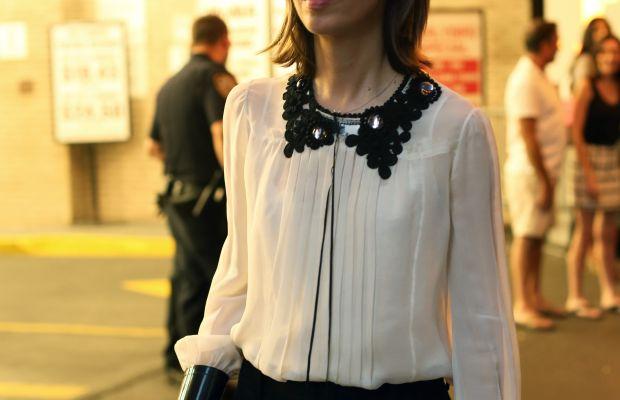 Sofia Coppola outside the Marc Jacobs show. Photo: Angela Datre/Fashionista