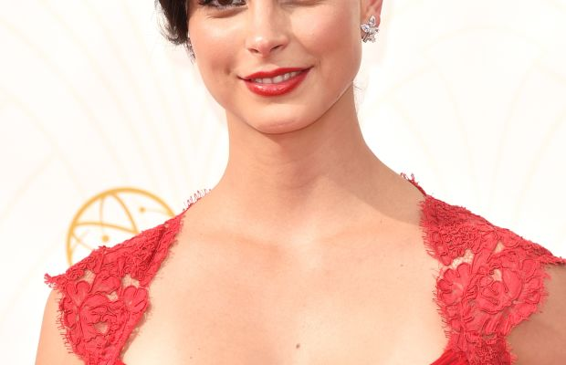 """Homeland""'s Morena Baccarin, dewy, not shiny. Photo: Frazer Harrison/Getty Images"