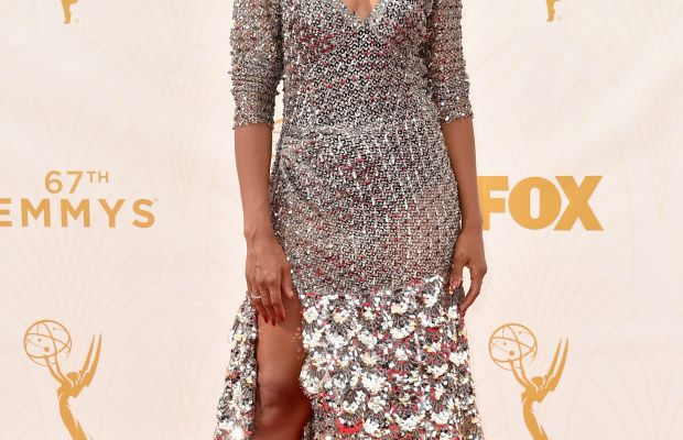 Kerry Washington in a Marc Jacobs spring 2016 metallic embellished dress. Photo: Alberto E. Rodriguez/Getty Images for TNT LA