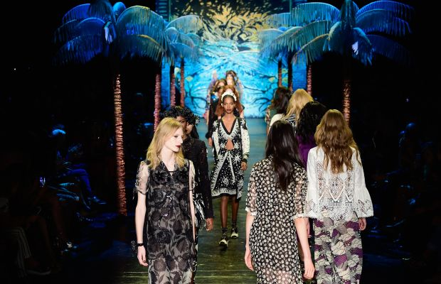 The final walk at Anna Sui. Photo: Frazer Harrison/Getty Images