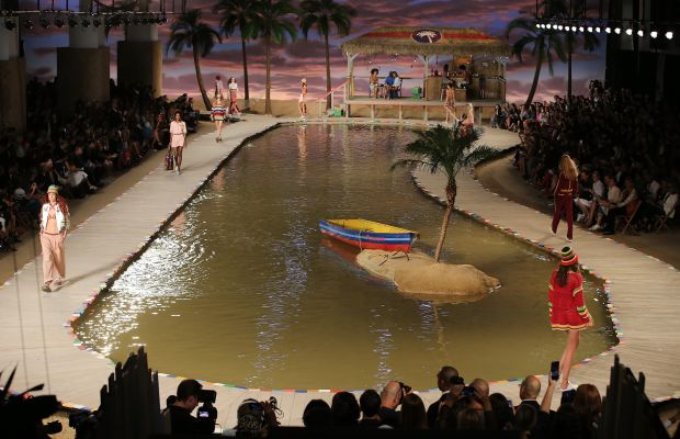 Tommy Hilfiger brings Mustique and Basil's Bar to New York Fashion Week. Photo: Neilson Barnard/Getty Images